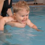 Baby in water